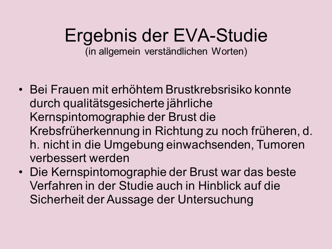 Ergebnis der EVA-Studie (in allgemein verständlichen Worten)