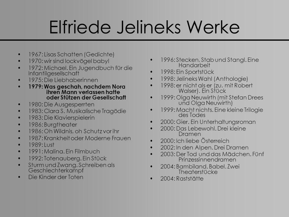Elfriede Jelineks Werke