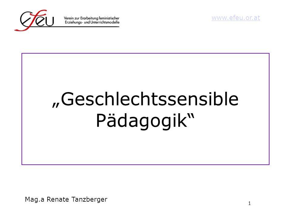 """""""Geschlechtssensible Pädagogik"""