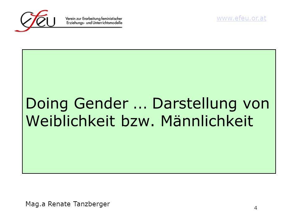 Doing Gender ... Darstellung von Weiblichkeit bzw. Männlichkeit