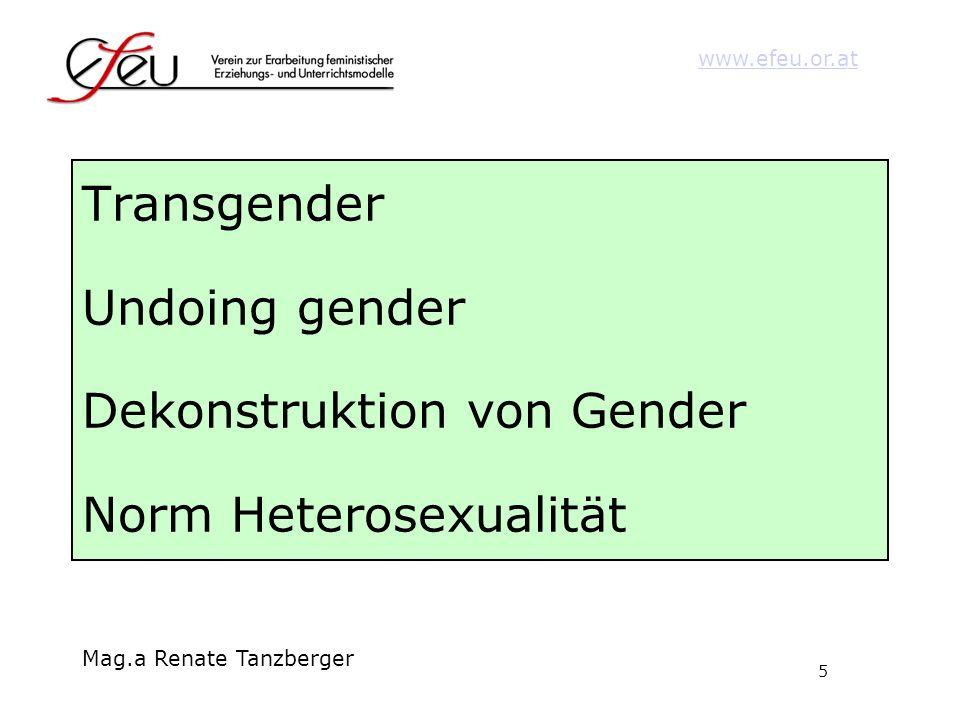 Transgender Undoing gender Dekonstruktion von Gender Norm Heterosexualität