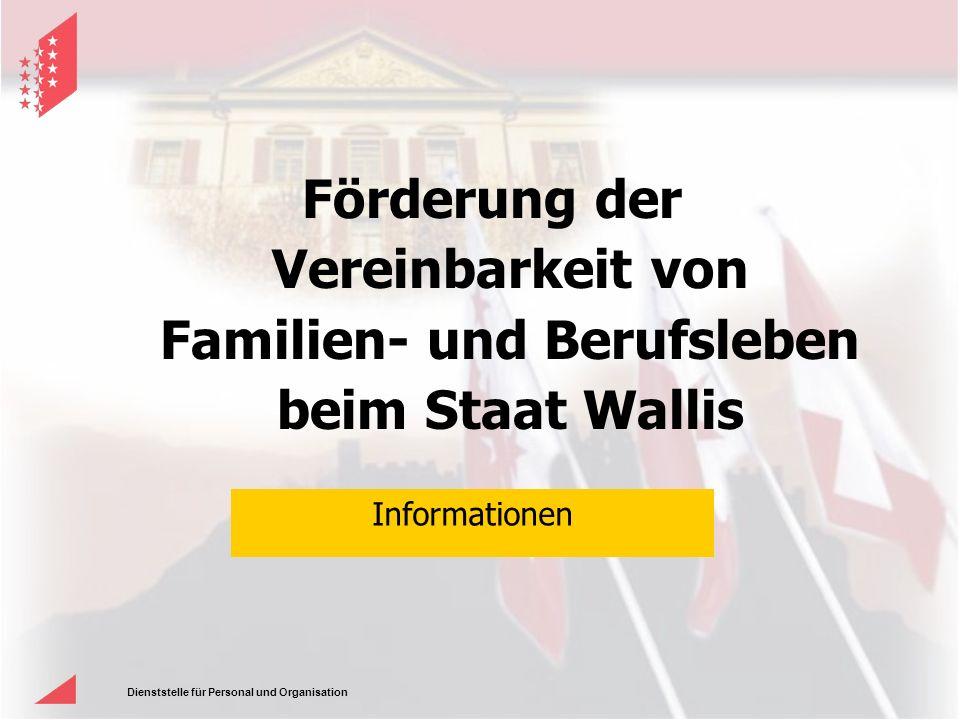 Förderung der Vereinbarkeit von Familien- und Berufsleben beim Staat Wallis