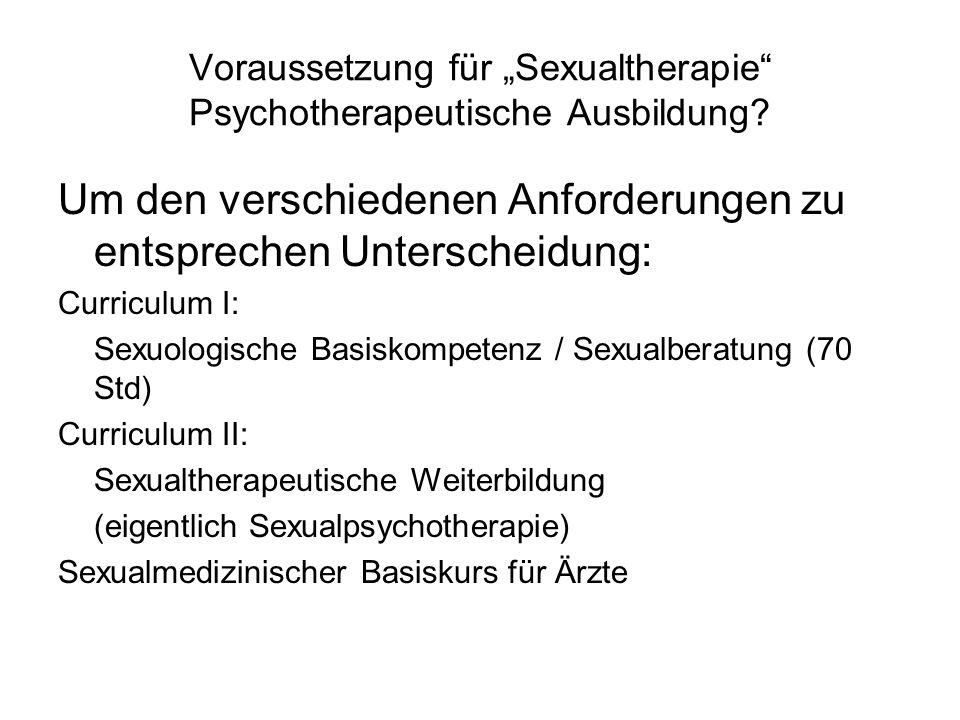 """Voraussetzung für """"Sexualtherapie Psychotherapeutische Ausbildung"""