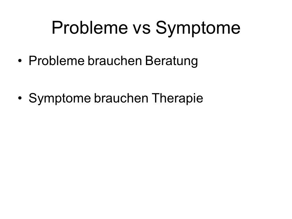 Probleme vs Symptome Probleme brauchen Beratung