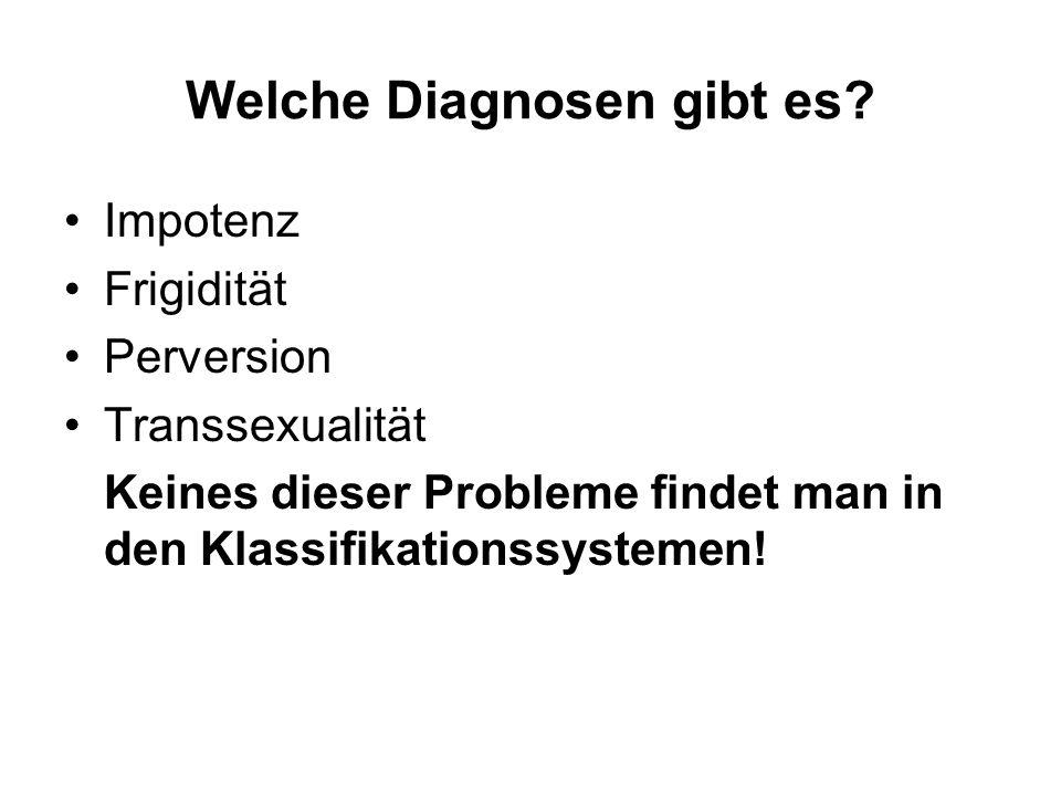 Welche Diagnosen gibt es