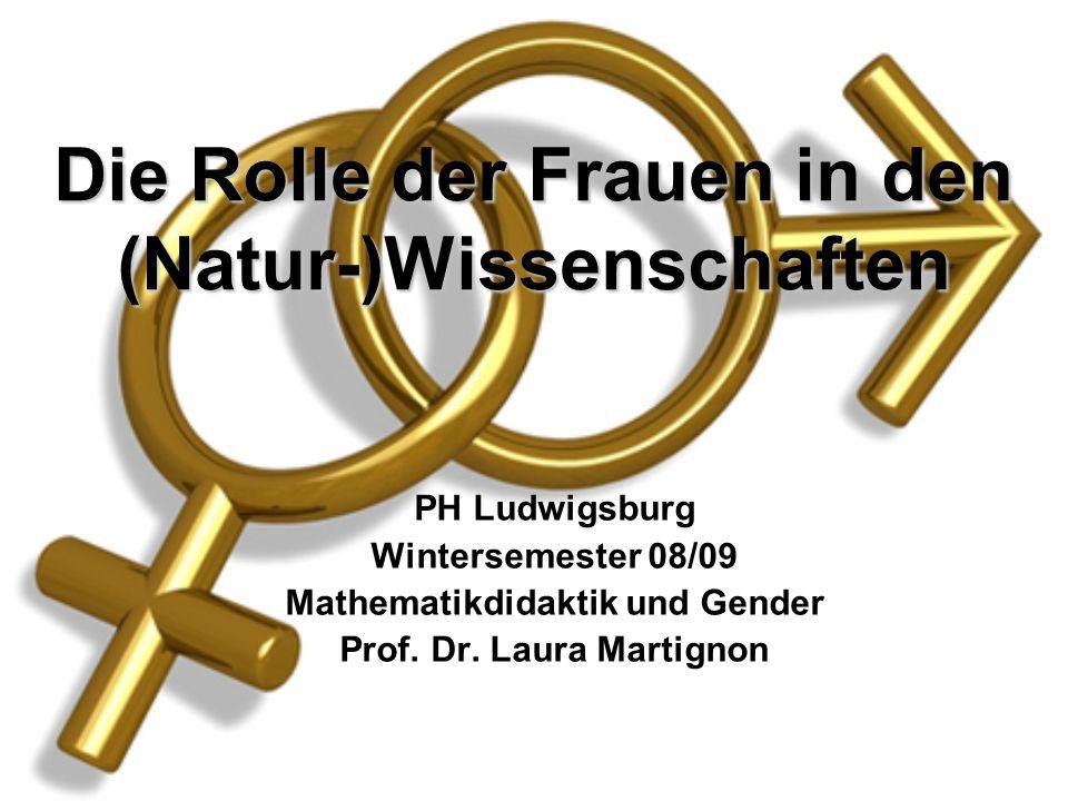 Die Rolle der Frauen in den (Natur-)Wissenschaften