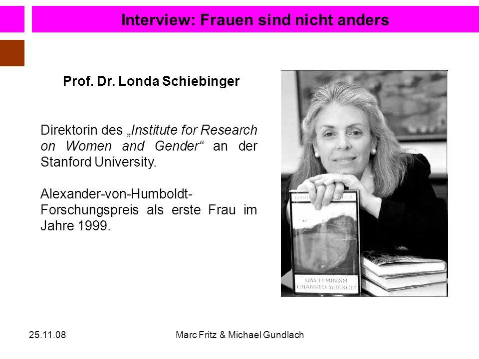 Interview: Frauen sind nicht anders Prof. Dr. Londa Schiebinger