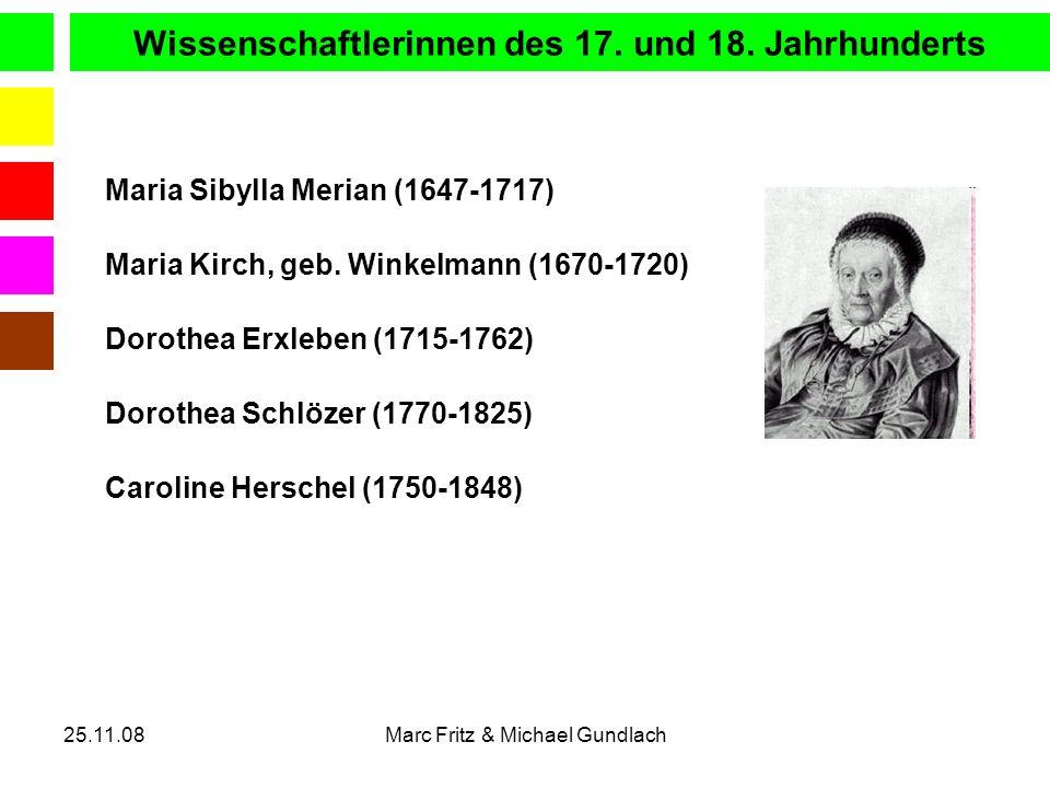 Wissenschaftlerinnen des 17. und 18. Jahrhunderts