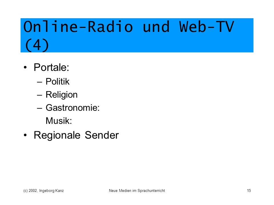 Online-Radio und Web-TV (4)