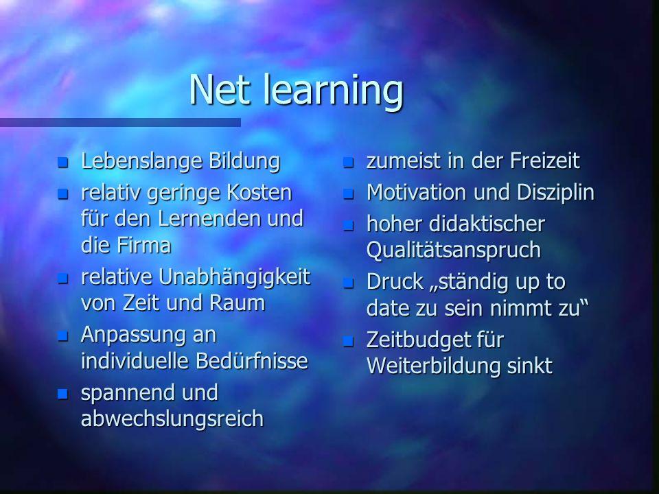 Net learning Lebenslange Bildung