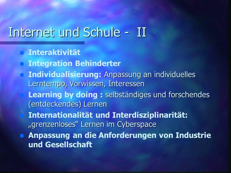Internet und Schule - II
