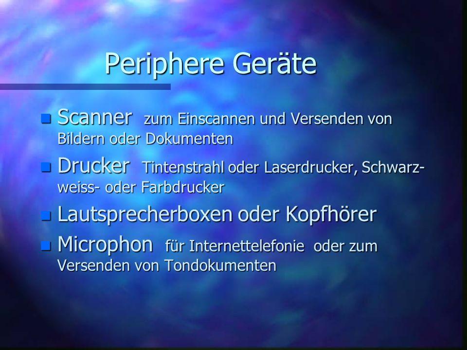 Periphere Geräte Scanner zum Einscannen und Versenden von Bildern oder Dokumenten.