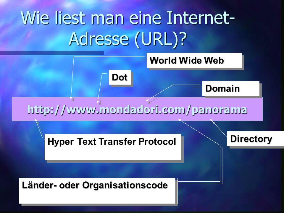 Wie liest man eine Internet-Adresse (URL)
