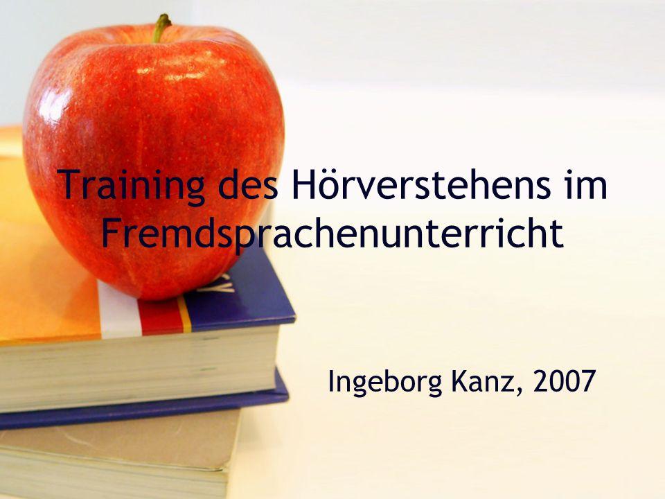 Training des Hörverstehens im Fremdsprachenunterricht