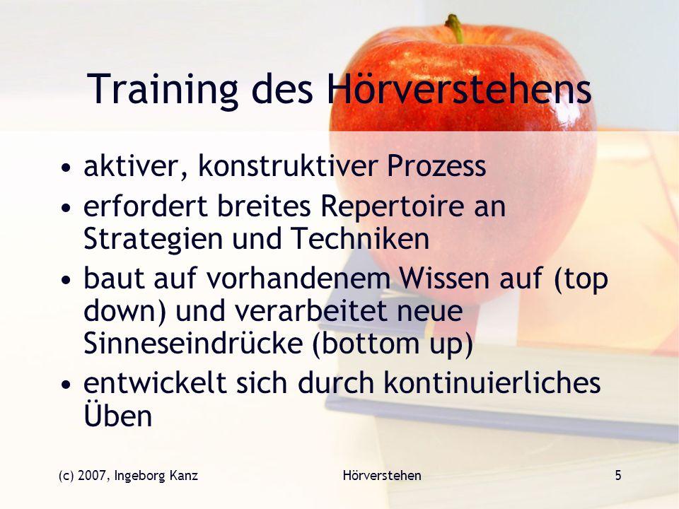 Training des Hörverstehens