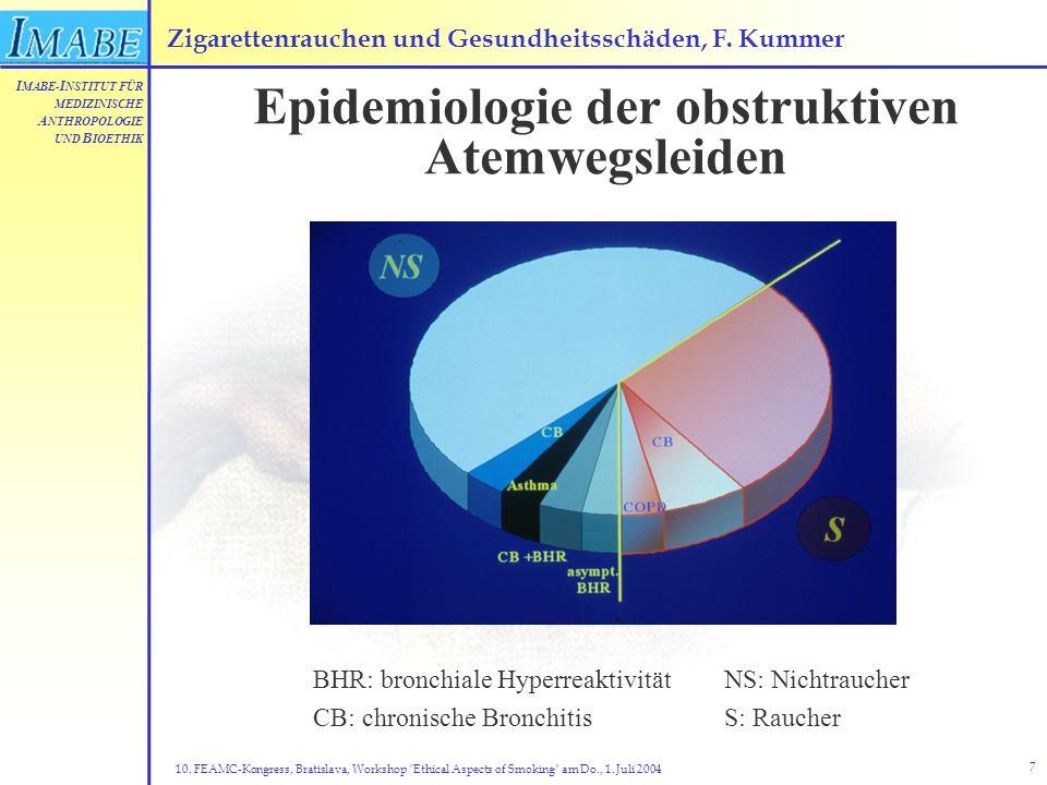 Zigarettenrauchen und Gesundheitsschäden, F. Kummer
