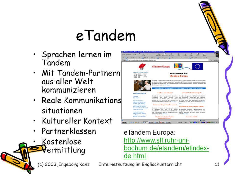 Internetnutzung im Englischunterricht