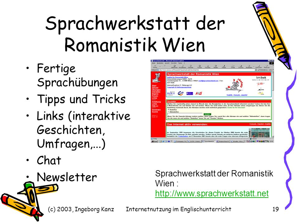Sprachwerkstatt der Romanistik Wien