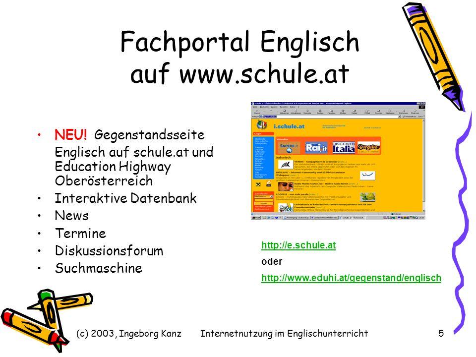 Fachportal Englisch auf www.schule.at