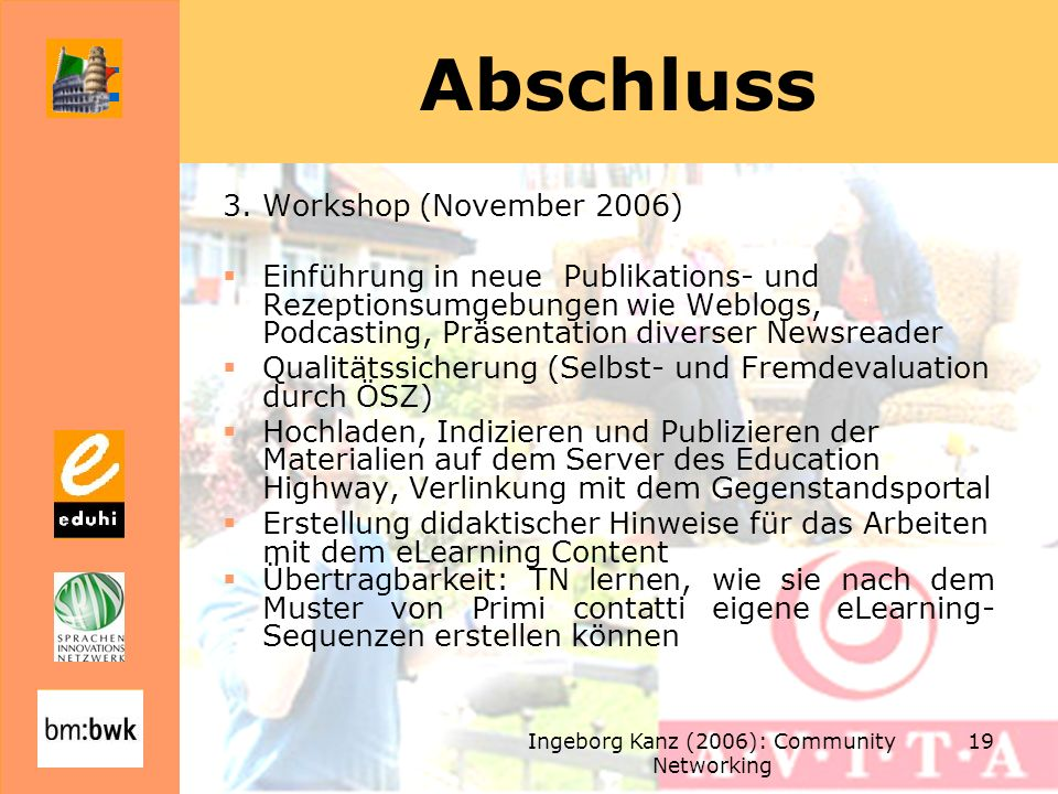 Ingeborg Kanz (2006): Community Networking