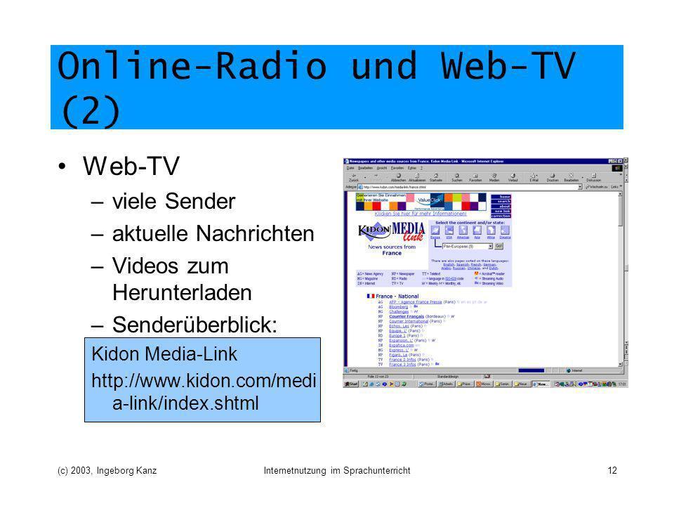 Online-Radio und Web-TV (2)