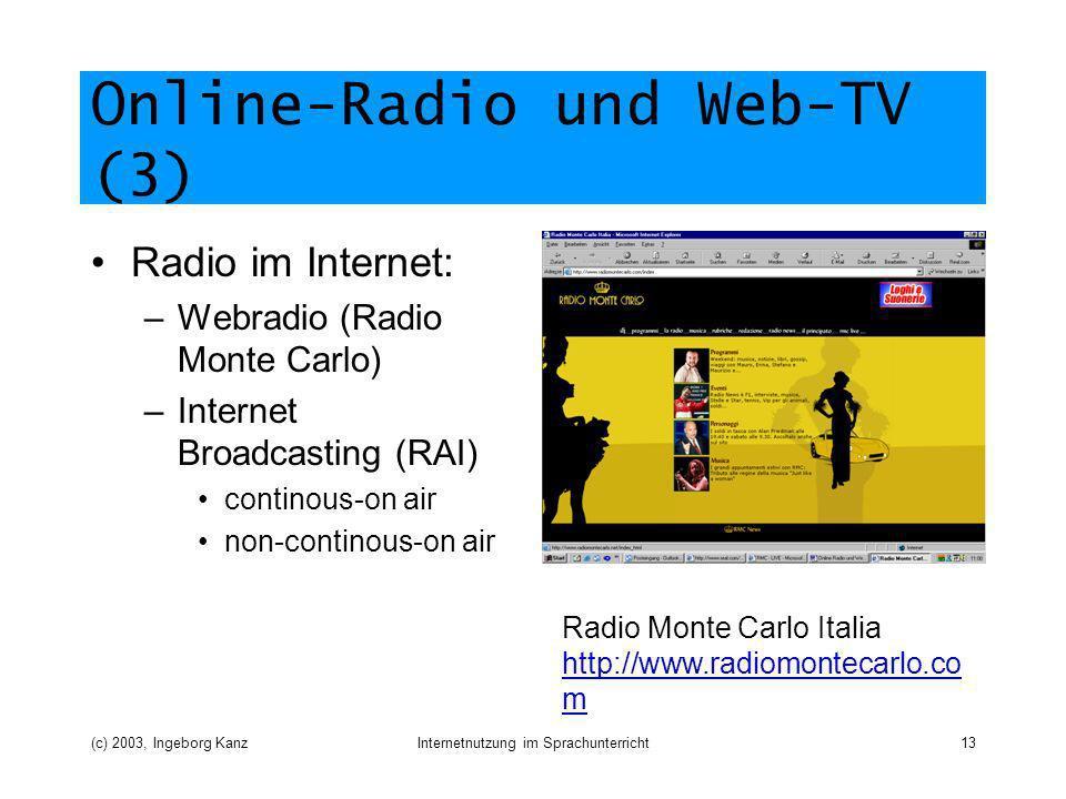 Online-Radio und Web-TV (3)