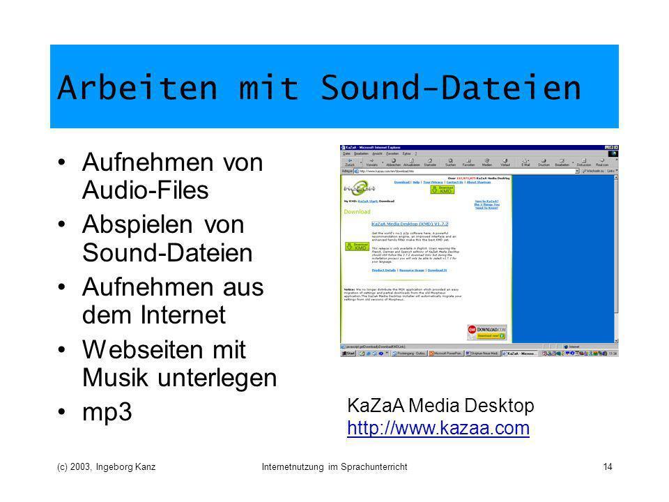 Arbeiten mit Sound-Dateien