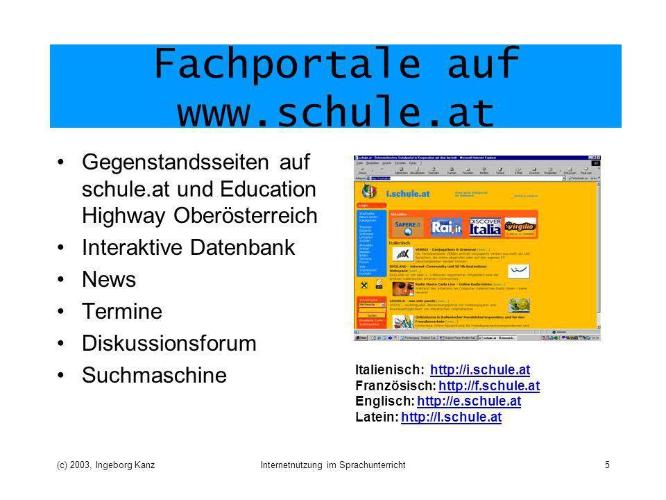 Fachportale auf www.schule.at