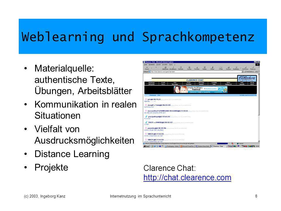Weblearning und Sprachkompetenz