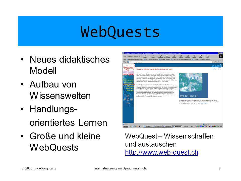 Internetnutzung im Sprachunterricht