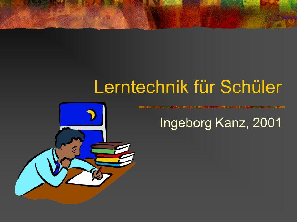 Lerntechnik für Schüler