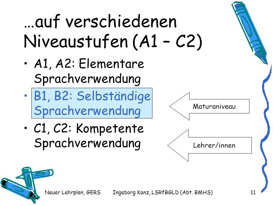 …auf verschiedenen Niveaustufen (A1 – C2)