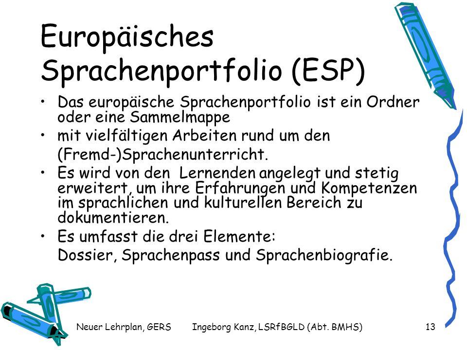Europäisches Sprachenportfolio (ESP)
