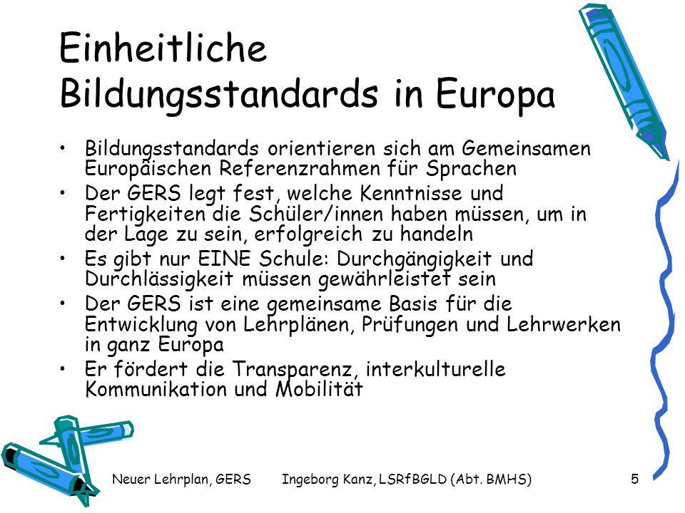 Einheitliche Bildungsstandards in Europa