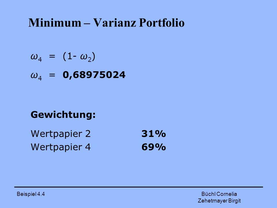 Minimum – Varianz Portfolio