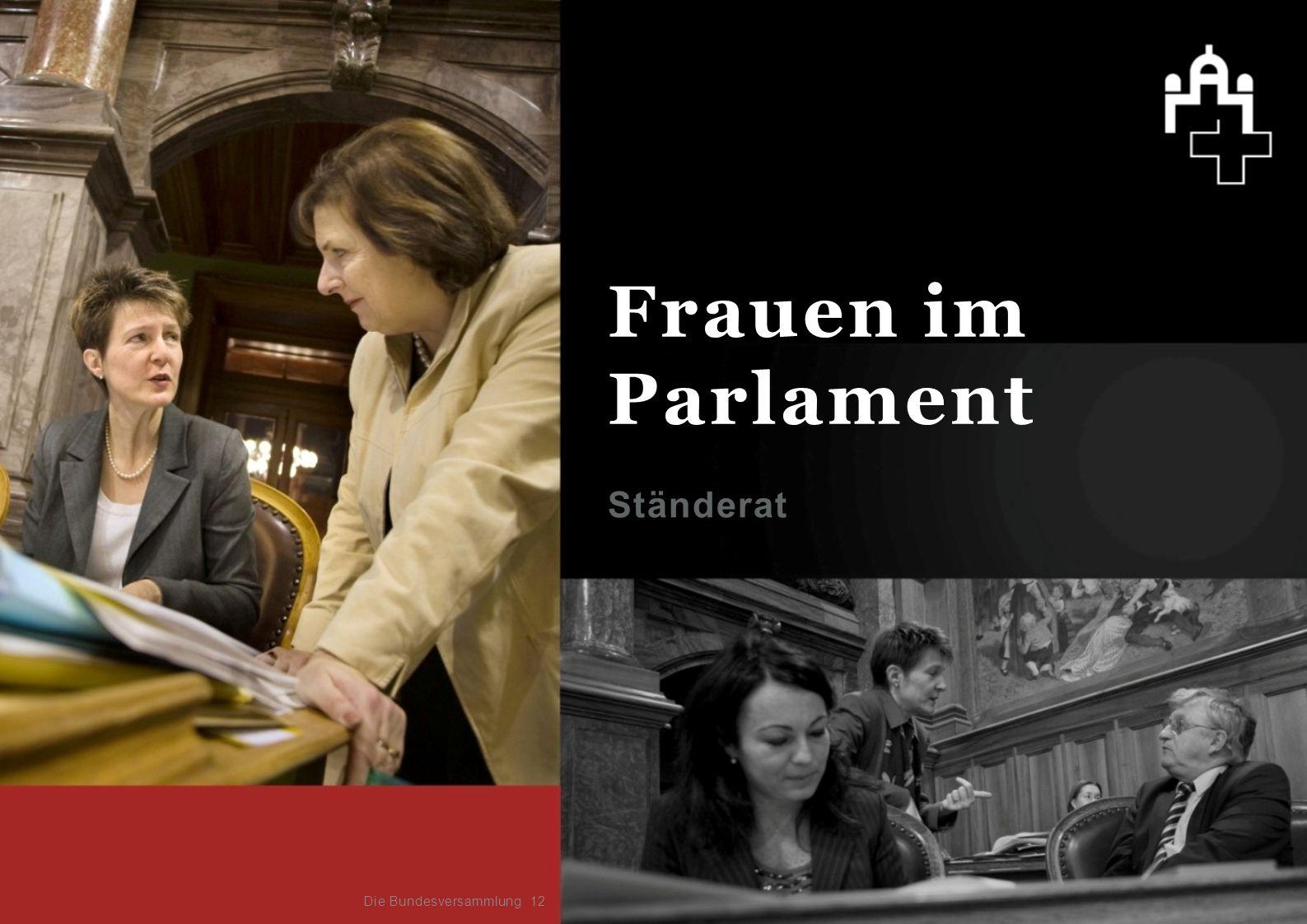 Frauen im Parlament Ständerat Die Bundesversammlung