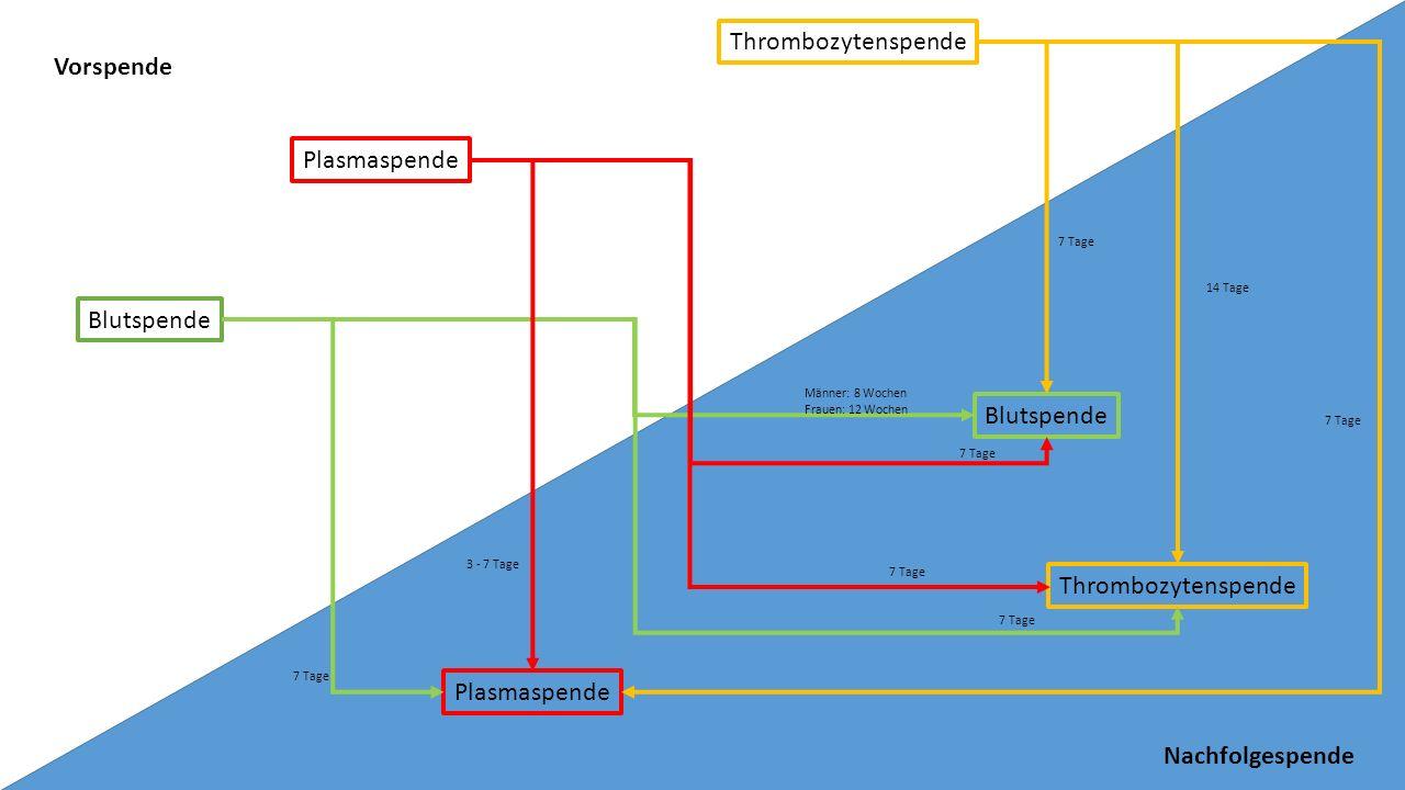 Thrombozytenspende Vorspende Plasmaspende Blutspende Blutspende