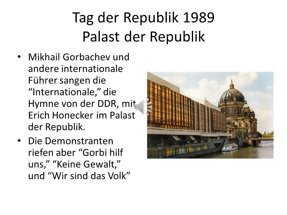 Tag der Republik 1989 Palast der Republik