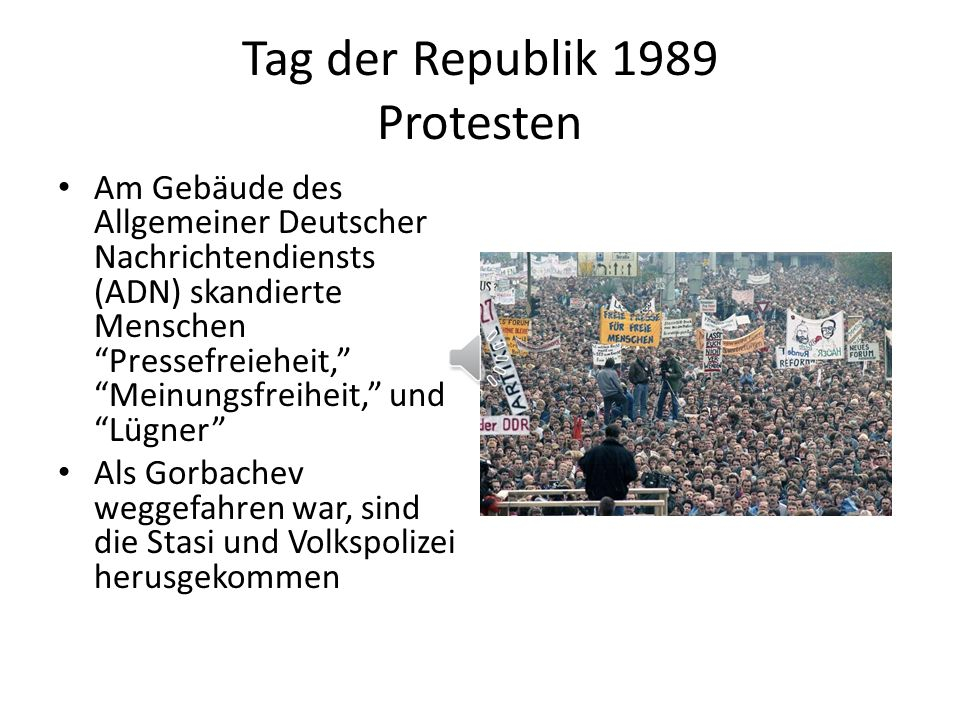 Tag der Republik 1989 Protesten