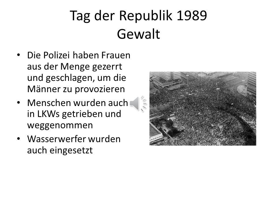 Tag der Republik 1989 Gewalt