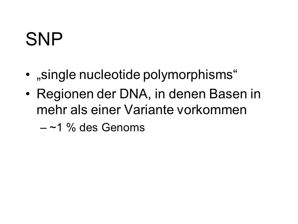 "SNP ""single nucleotide polymorphisms"