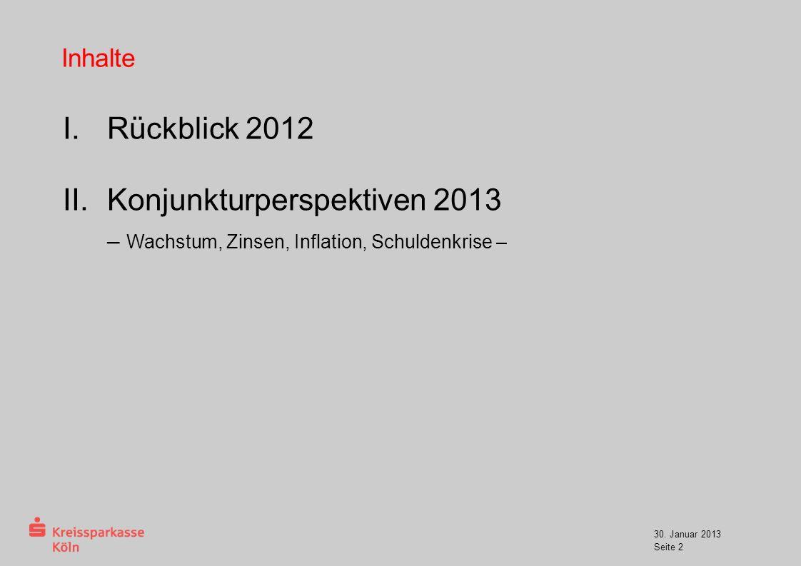 Konjunkturperspektiven 2013