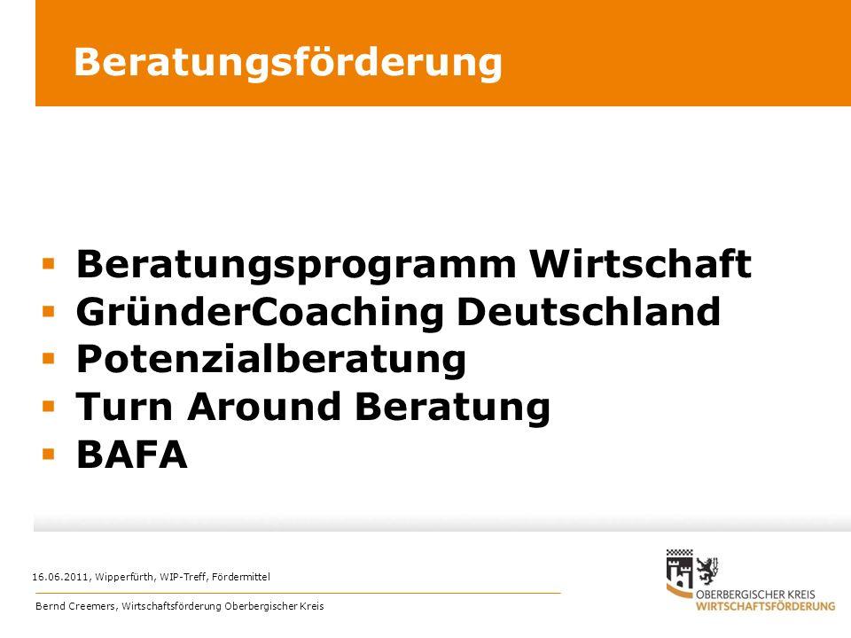 Beratungsprogramm Wirtschaft GründerCoaching Deutschland
