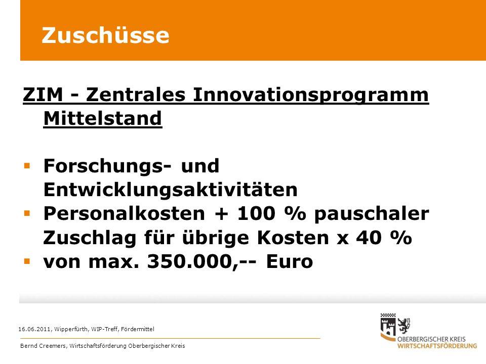 Zuschüsse ZIM - Zentrales Innovationsprogramm Mittelstand