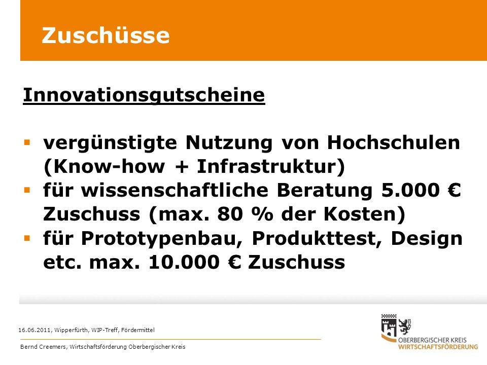 Zuschüsse Innovationsgutscheine