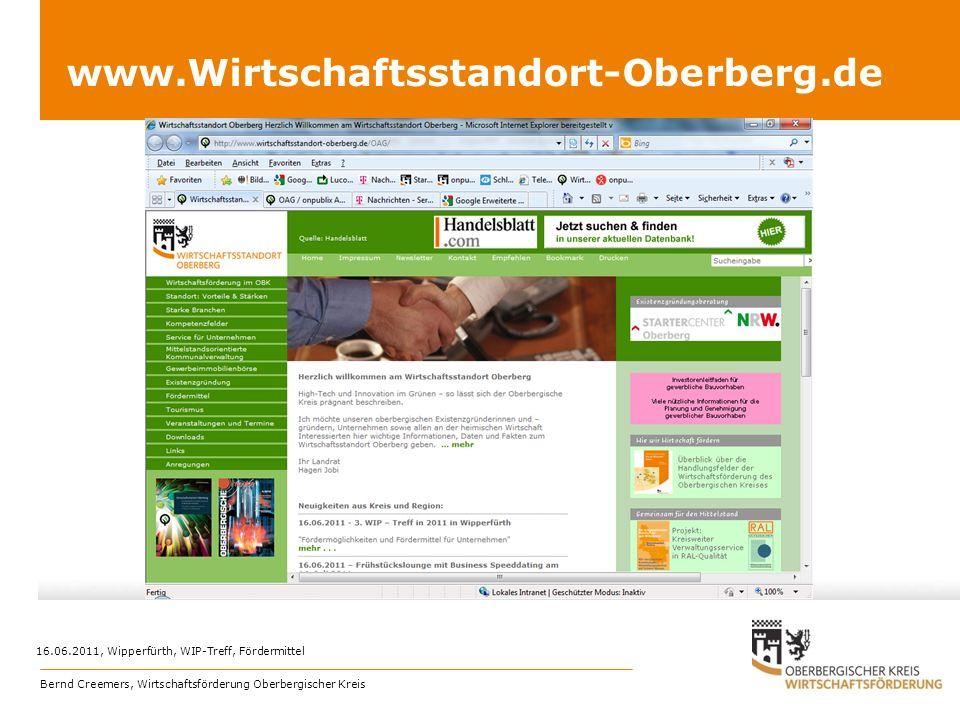 www.Wirtschaftsstandort-Oberberg.de 16.06.2011, Wipperfürth, WIP-Treff, Fördermittel.