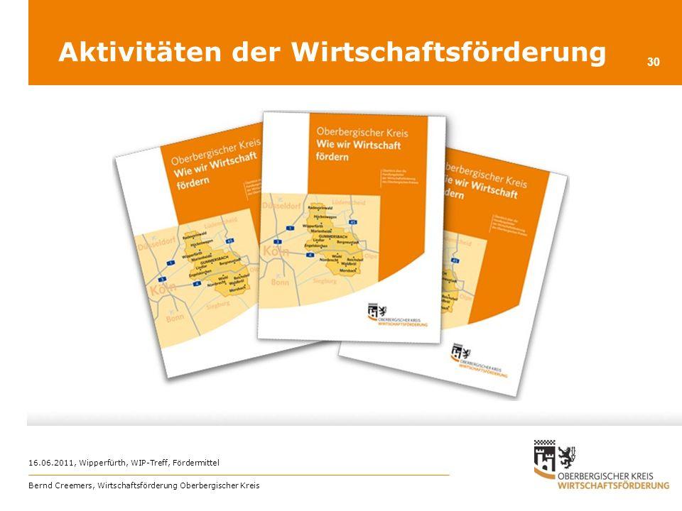 Aktivitäten der Wirtschaftsförderung