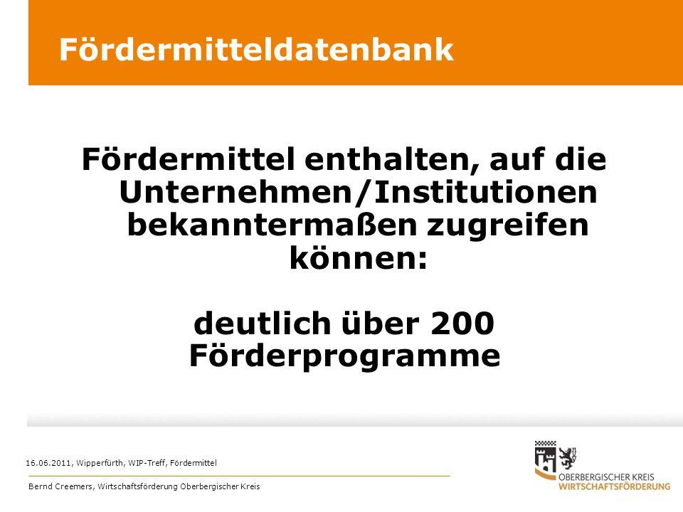 Fördermitteldatenbank
