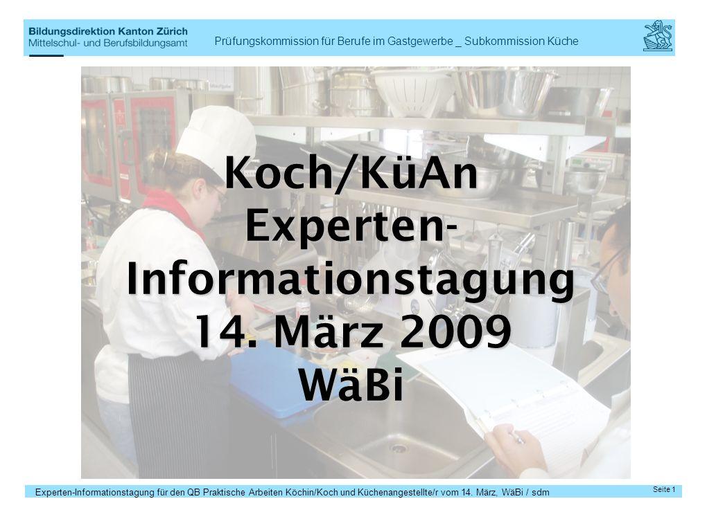 Experten- Informationstagung 14. März 2009