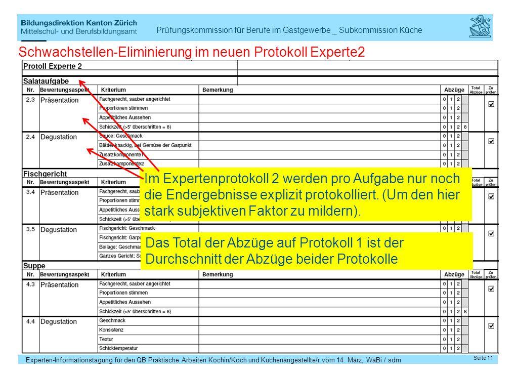 Schwachstellen-Eliminierung im neuen Protokoll Experte2